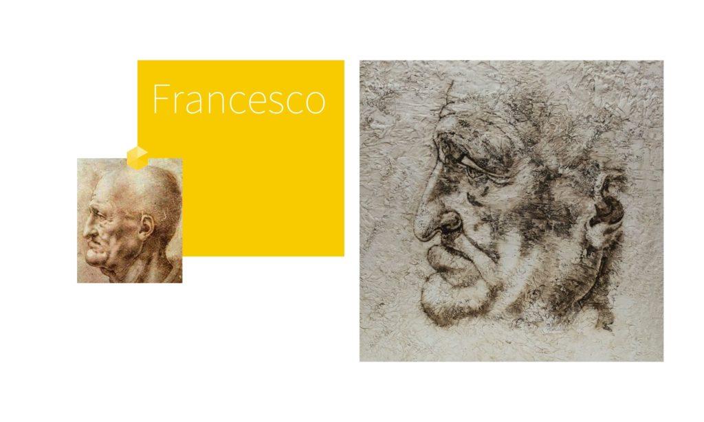 FRANCESCO | por C.J.Ruiz Recreación de CABEZAS GROTESCAS de Leonardo Da Vinci Colección VIDAS y sus Relatos Cortos Nunproject.com