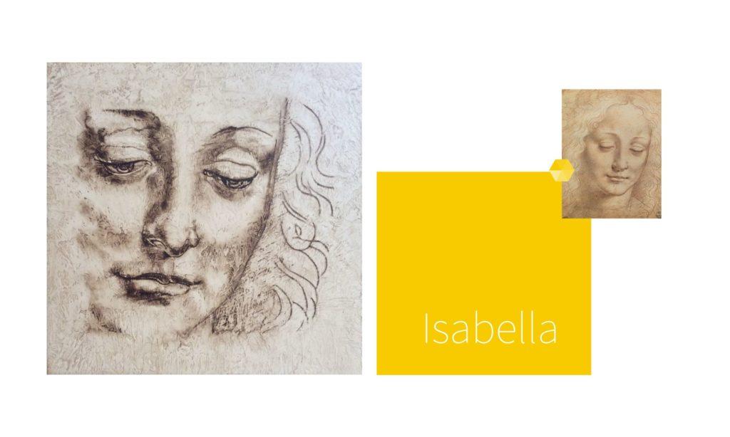 ISABELLA | por C.J.Ruiz Recreación de CABEZA FEMENINA de Leonardo Da Vinci Colección VIDAS y sus Relatos Cortos Nunproject.com