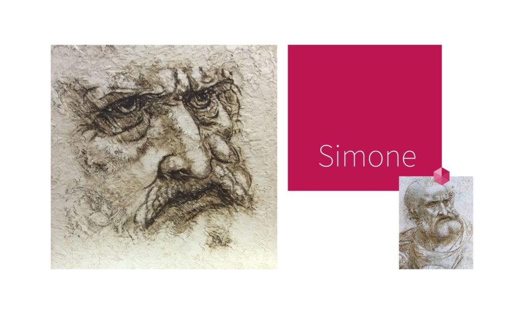 SIMONE | por C.J.Ruiz Recreación de SAN PEDRO para La Última Cena de Leonardo Da Vinci Colección VIDAS y sus Relatos Cortos Nunproject.com