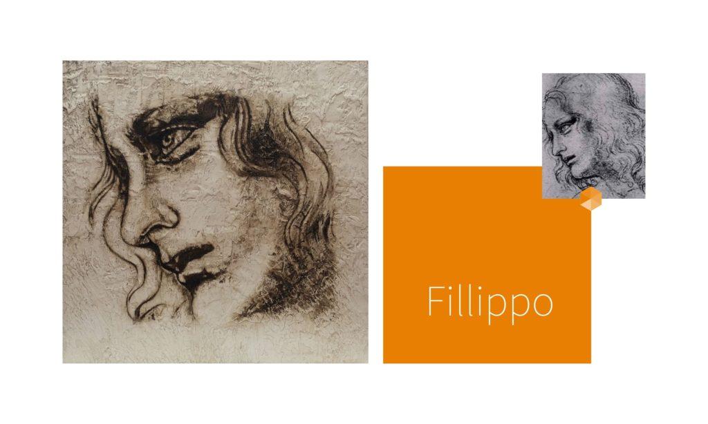 FILLIPPO | por C.J.Ruiz FELIPE | recreación de La Última Cena de Leonardo da Vinci Colección VIDAS y sus Relatos Cortos Nunproject.com